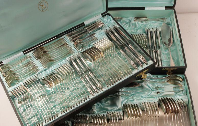 Tafelbesteck aus Silber vom Wiener Silber-Schmied J. C. Klinkosch