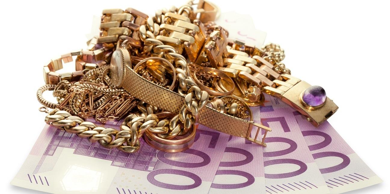 Der hohe Goldpreis garantiert hohe Geld-Auszahlungen für Gold, Schmuck & Co