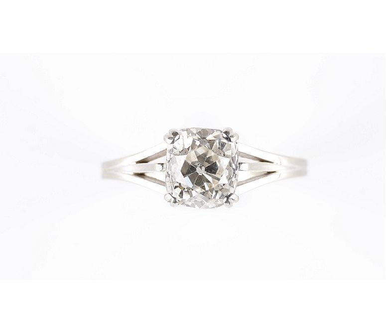 Verlobungsring Altschliff-Diamantsolitär