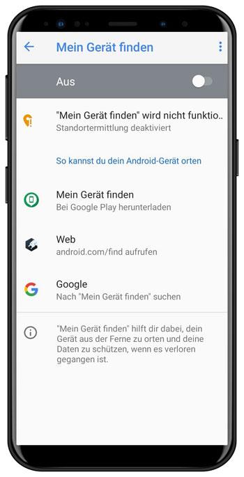 Fernzugriff deaktivieren am Android Smartphone